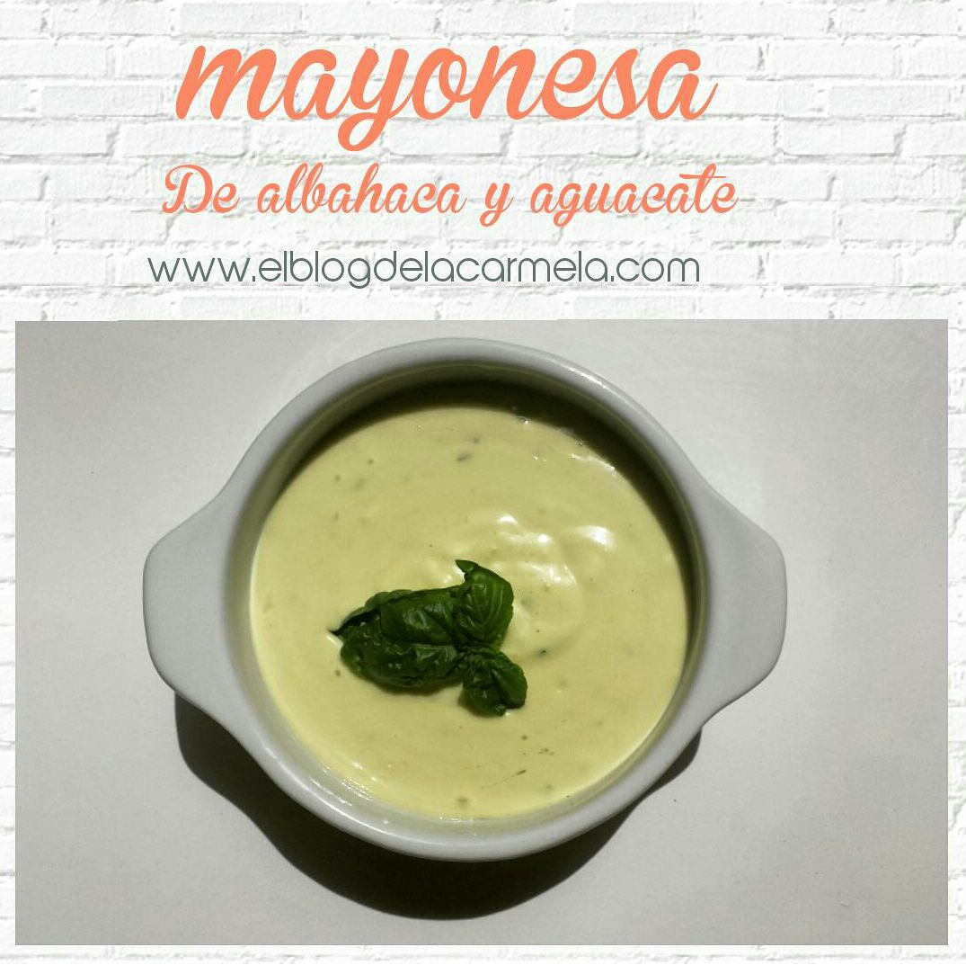 mayonesa de albahaca y aguacate